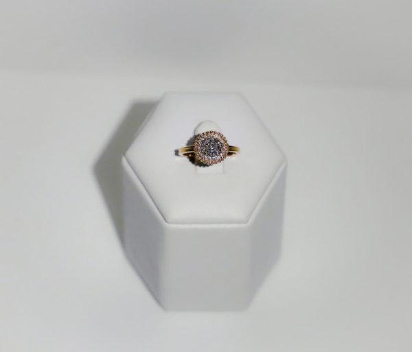 Anello a giro diamanti