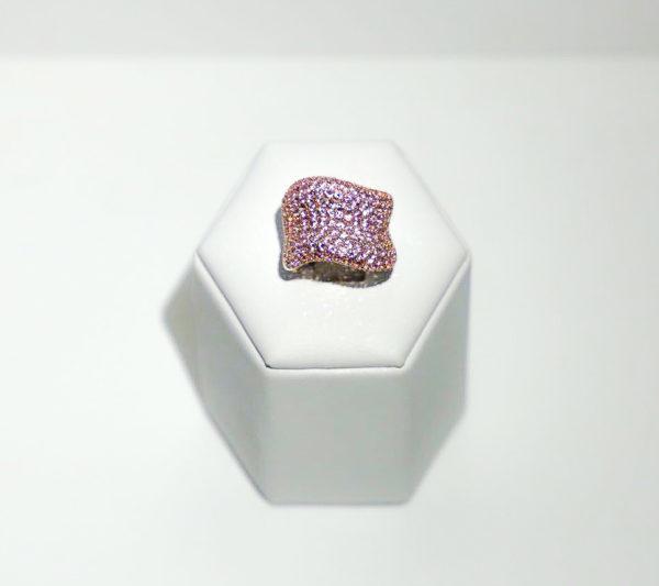 Anello Fascia di zaffiri rosa