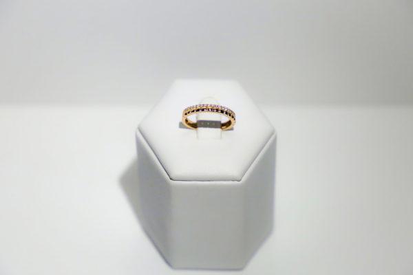 Anello Fedina contorno di diamanti